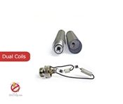 Stainless Steel Dual Coil Cartomizers 2.0ohm Short- 1 Piece