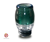 Handmade 510 Teal Colored Pyrex Glass Drip Tip