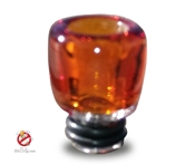 USA Hand-blown Amber 510 Pyrex Drip Tip