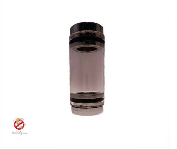 Ml slim pyrex glass tank with chrome metal end caps