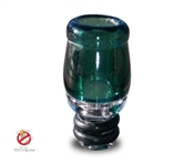 USA Handmade 510 Teal Colored Glass Drip Tip