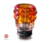 USA Handmade 510 Amber Color Glass Drip Tip