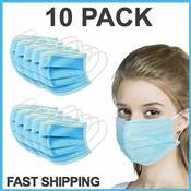 DISPOSABLE FACE MASK -10 PCSCS